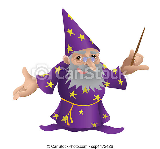 Wizard illustration - csp4472426