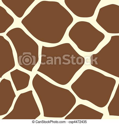 Seamless tiling giraffe skin animal - csp4472435