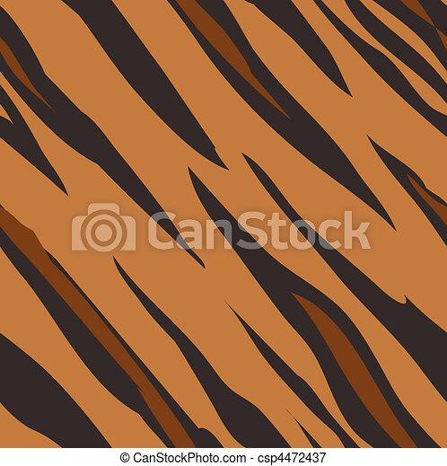 Tiger skin seamless tiling animal print pattern - csp4472437