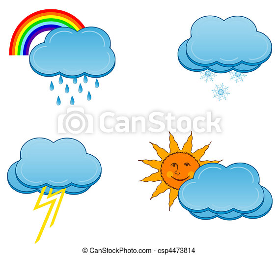 weather icons set  - csp4473814
