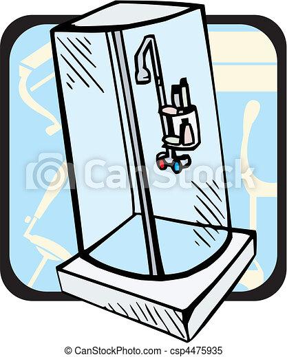 Clipart vektor von badezimmer csp4475935 suchen sie for Badezimmer clipart