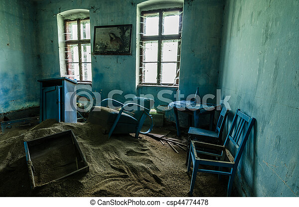 blue room with blue furniture in house