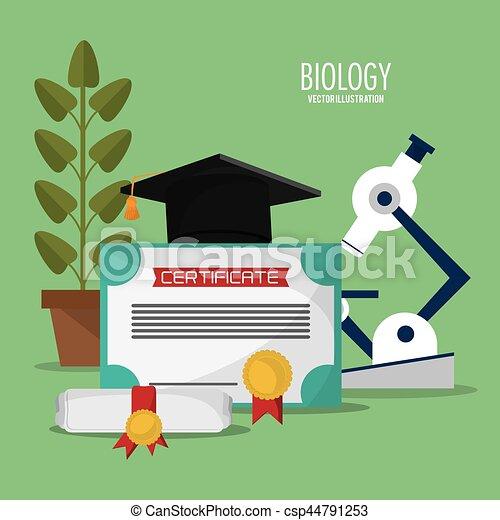collection biology school equipment - csp44791253
