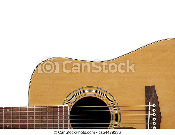 Acoustic Guitar Crop with Adspace - csp4479336
