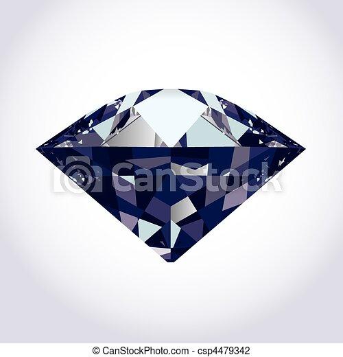 brilliant vector diamond - csp4479342