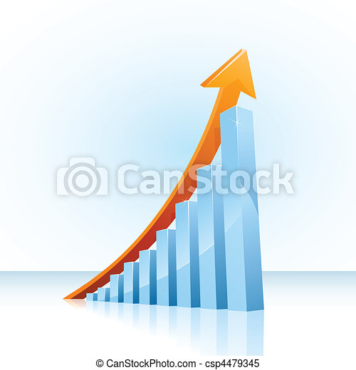 Business growth bar graph - csp4479345