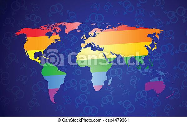 global gay pride concept - csp4479361