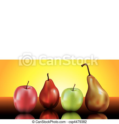 pears and apples still life - csp4479382