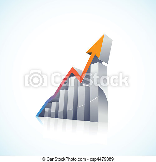 vector 3d Stock Market Bar Graph - csp4479389