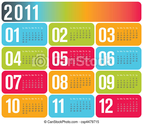 Contemporary design calendar 2011 - csp4479715