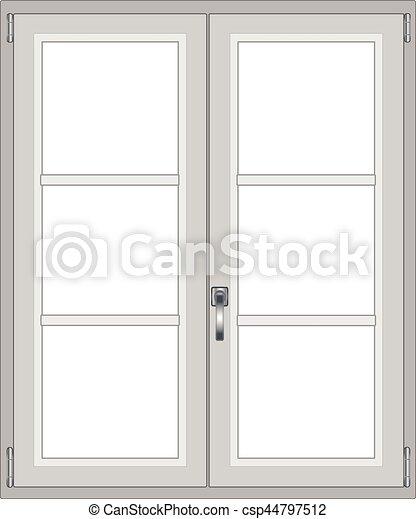 Fenster clipart schwarz weiß  Vektor Clipart von fenster, modern, freigestellt - Modern, fenster ...