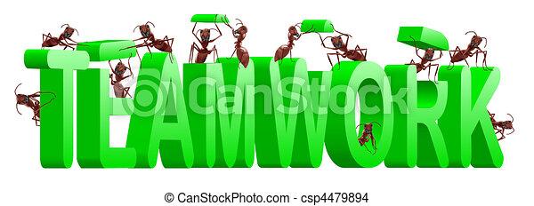 teamwork collaboration or cooperation - csp4479894