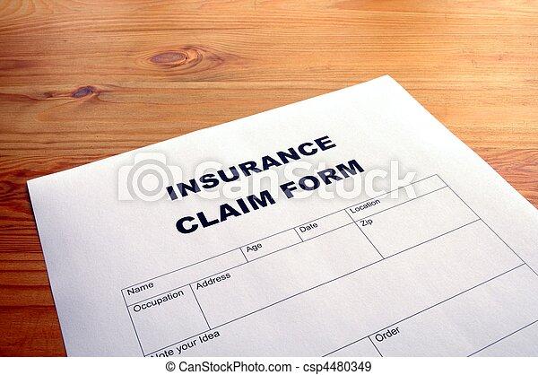 insurance claim form - csp4480349
