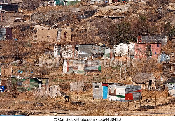 squatter camp africa - csp4480436
