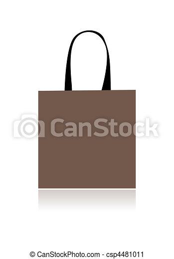 Shopping bag design, floral heart shape - csp4481011