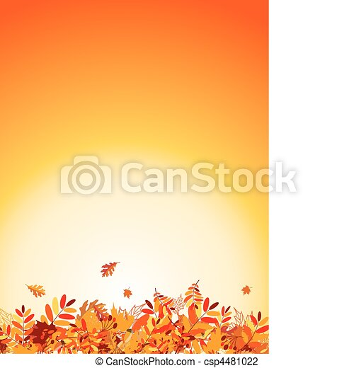 Autumn leaves background for your design - csp4481022