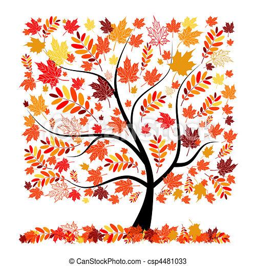 Beautiful autumn tree for your design - csp4481033