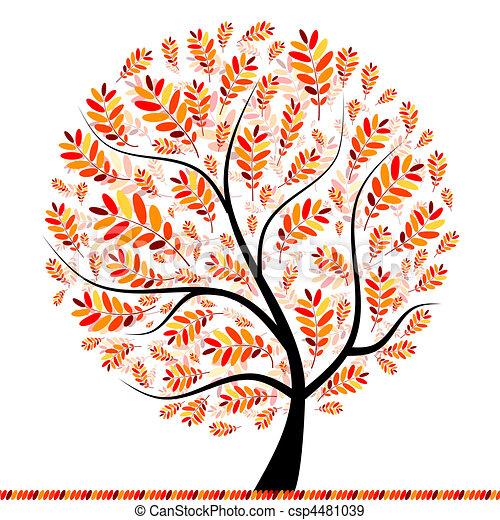 Beautiful autumn tree for your design - csp4481039