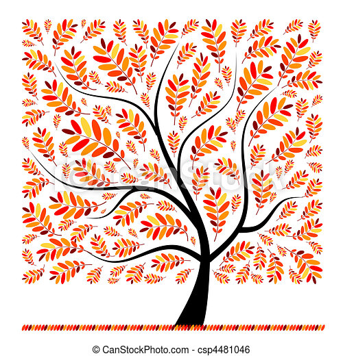 Beautiful autumn tree for your design - csp4481046