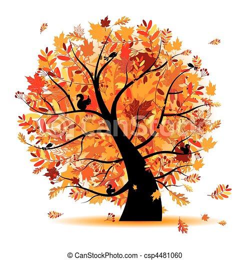 Clipart vecteur de beau automne arbre pour ton conception csp4481060 recherchez des - Arbre automne dessin ...