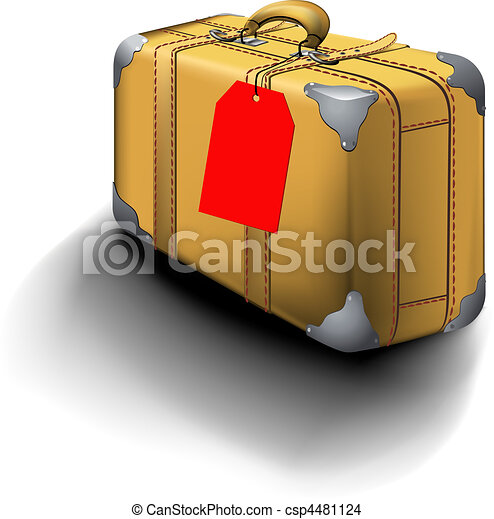 Traveled Suitcase With Travel Sticker - csp4481124