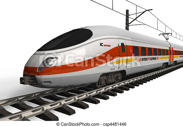 Modern high speed train - csp4481446