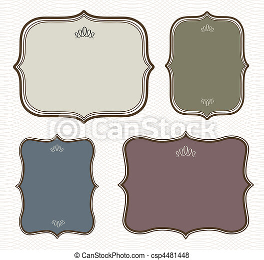 Vector Curved Frame and Pattern Set - csp4481448
