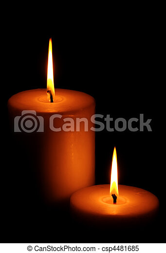 Two Burning candle - csp4481685