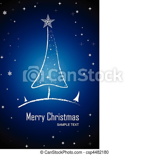 merry christmas card - csp4482180