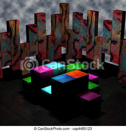 Desenhos de abstratos 3d sala 3d render abstratos for Sala de estar 3x5