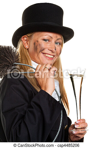 Chimney sweep. Lucky New Year's Eve, New Year - csp4485206