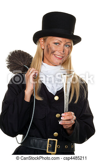 Chimney sweep. Lucky New Year's Eve, New Year - csp4485211