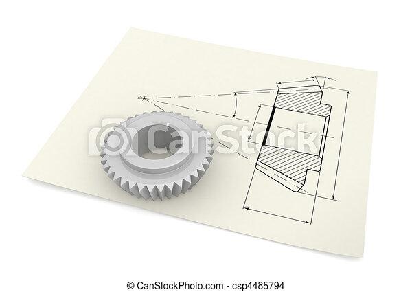 industrial, dibujo - csp4485794