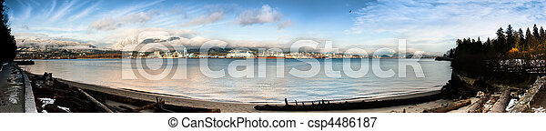 North Vancouver Shoreline Panorama - csp4486187