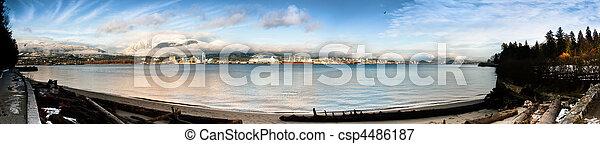 North Vancouver Shoreline Panorama - csp4486187