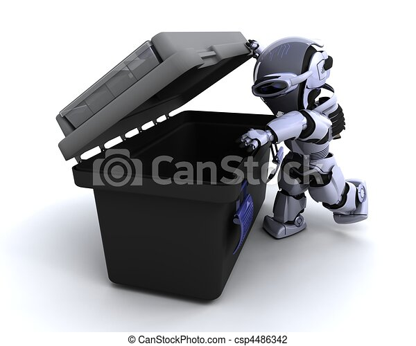 robot with tool box - csp4486342