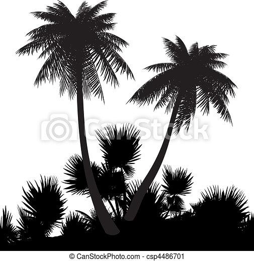 Beach Silhouette Clip Art Cliparts