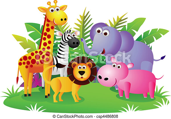 Vector Of Animal Cartoon Csp4486808 Search Clip Art