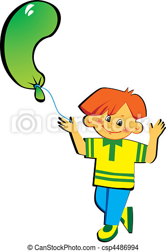 Boy with letter C. - csp4486994