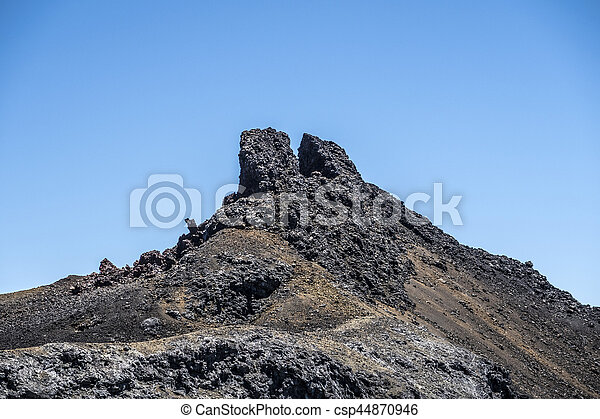 volcanic landscape at Sierra Negra at the Galapagos islands in Ecuador - csp44870946
