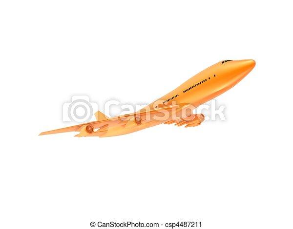 orange plane  - csp4487211