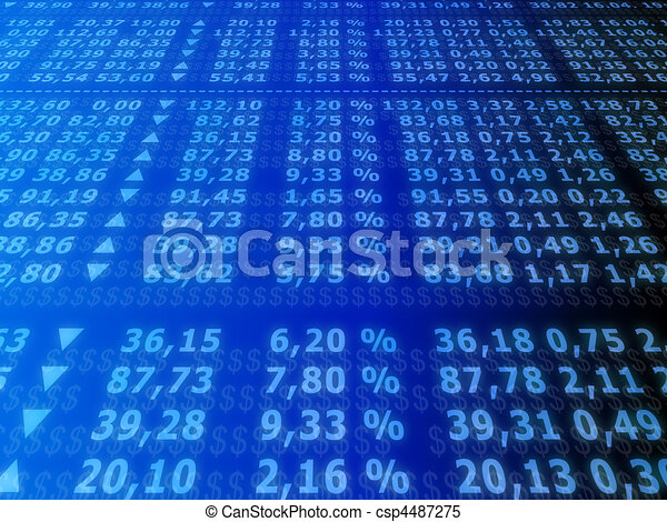 stock market  - csp4487275