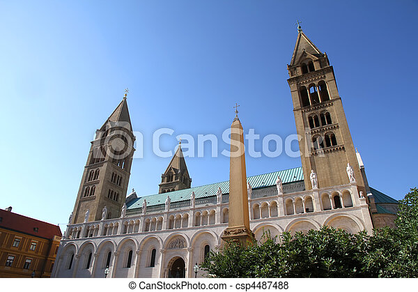 Cathedral in Pecs - csp4487488