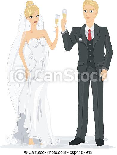 Wedding Toast - csp4487943