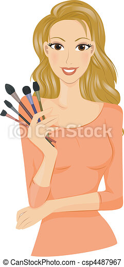 Make Up Brushes - csp4487967
