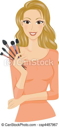 Make Up Brushes - csp4487967