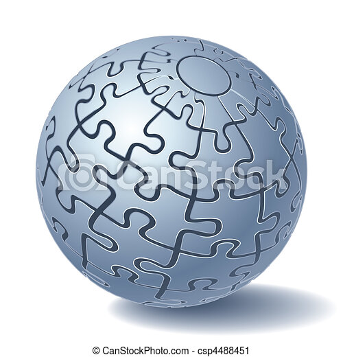 Jigsaw puzzle sphere - csp4488451