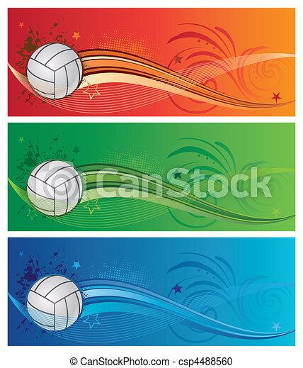 volleyball sport background - csp4488560