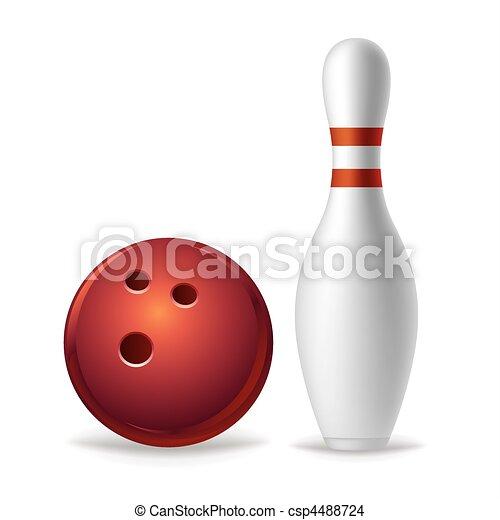 bowling equipment - csp4488724