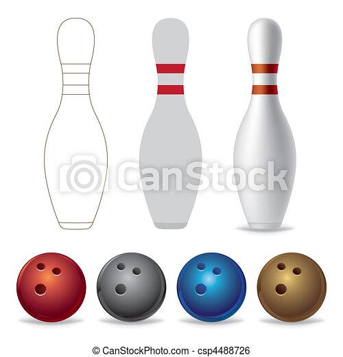 bowling equipment - csp4488726